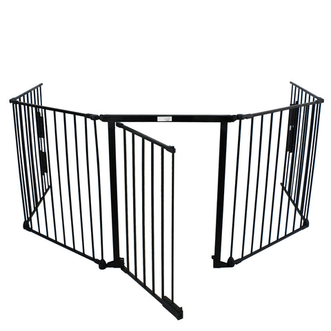 zeny fireplace fence baby safety fence hearth gate bbq metal fire gate pet dog cat