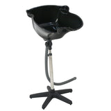 ZENY™ Pro Portable Shampoo Basin Height Adjustable Salon Hair Treatment Bowl Black New