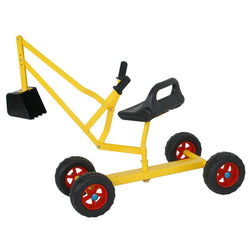 Zeny™Sand Digger Toy Backhoe w/ 4 Wheels Dig in Sand, Beach, Snow, Dirt Kid's Outdoor Ride on Toy Digging Scooper Crane