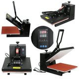 "ZENY™15"" x 15"" Sublimation Heat Transfer Press Machine - Clamshell for T-Shirt, Black (#04)"