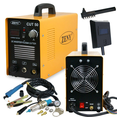ZENY™DC Inverter Plasma Cutter Cutting Machine 50AMP CUT-50 Dual Voltage 110-220V Welder W/ Welding Mask (CUT-50)