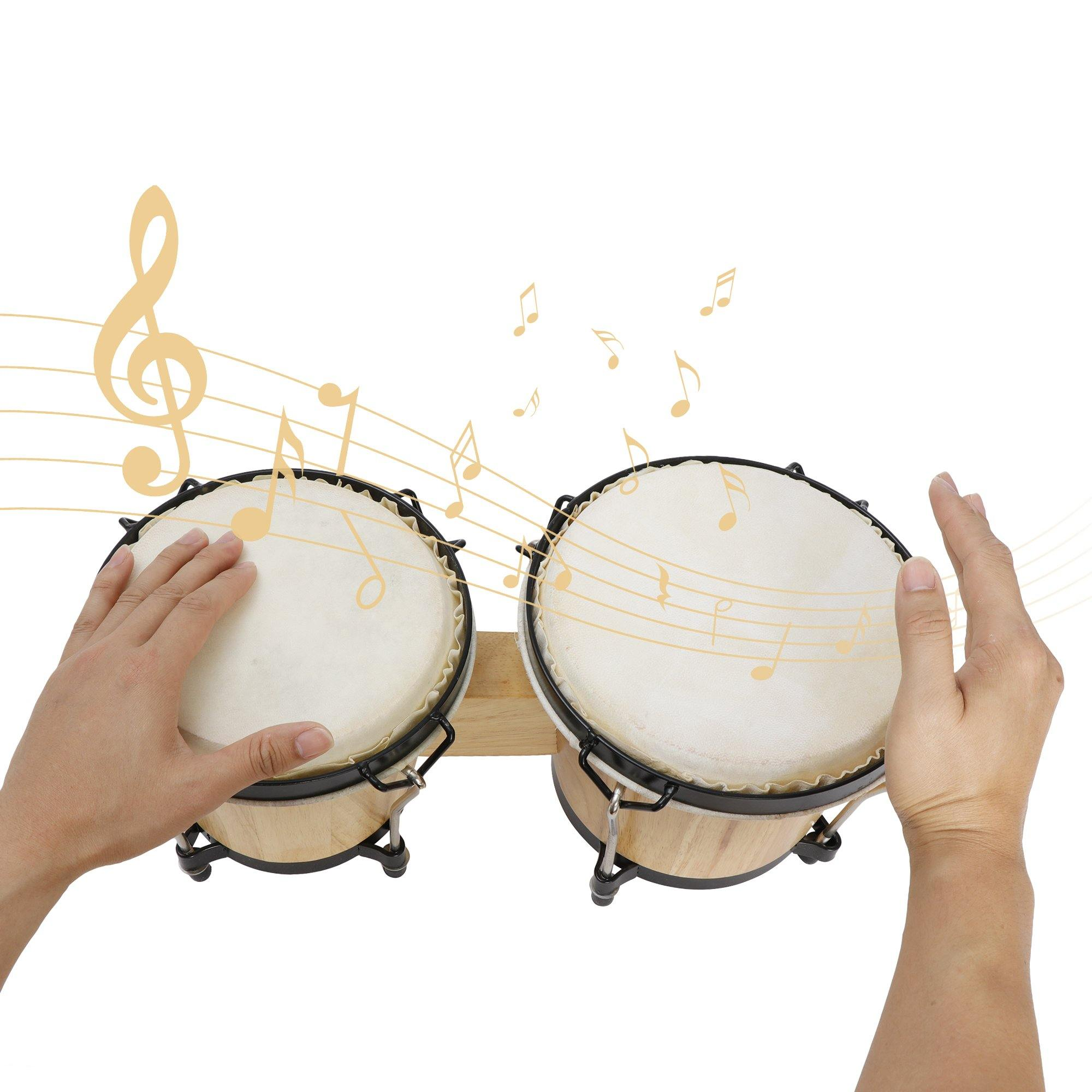 Drums & Percussion Folk & World Hand Drums Wood and Metal Bongo ...