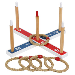 ZENY™ Ring Toss Game Set Wooden Rope Ring Throwing Game For Children, Adults, Seniors W/Carrying Case