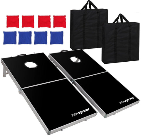 ZENY™ 3' x 2' Portable Beanbag CornHole Game Set with 8 Bean Bags and Carrying Case for Tailgate Party Backyard BBQ