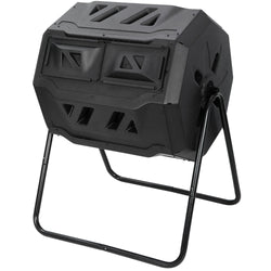 ZENY™ Large Composting Tumbler 43 Gallon Capacity Composter, Dual Chamber Rotating Waste Bins