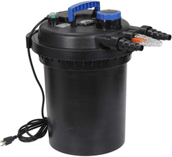 ZENY™ Pressure Bio Filter for Pond 13W UV Sterilizer Purifier Light 10000L Koi Water 4000 Gallons Easy Backwash Function