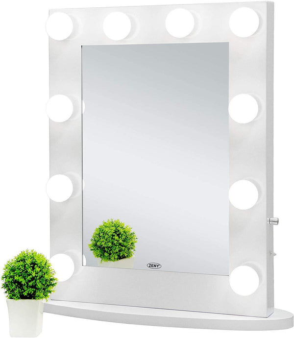 ZENY™ Hollywood Makeup Vanity Mirror with Light, Wall Mounted Lighting  Mirror with Dimmable Bulbs, Bedroom Lighted Standing Mirror with Dimmer,  LED ...