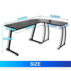 ZENY™ L-Shaped Computer Desk,Corner Desk,Gaming Desk,Reversible Home Office PC Workstation,Study Writing Table