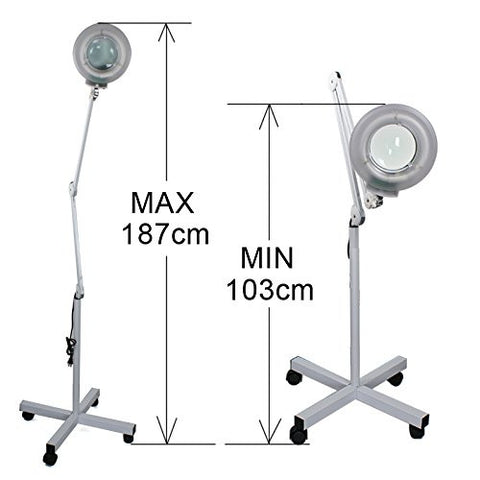 Zeny magnifying floor lamp 5 diopter w rolling floor stand base zeny magnifying floor lamp 5 diopter w rolling floor stand base adjustable floor magnifier mozeypictures Choice Image