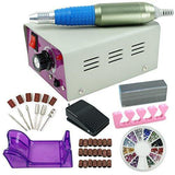 ZENY™ 25000RMP Complete Electric Nail Drill Kit Set Art File Bit Acrylic Manicure Pedicure Band