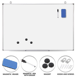 ZENY™ Magnetic Whiteboard 36 x 24 inch Dry Erase White Board Wall Hanging Board with Eraser,Marker Pen,Magnets,Hanging Hooks