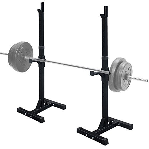 Zeny Set Of 2 Adjustable Standard Solid Steel Squat