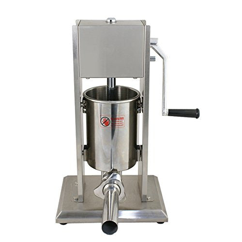 ZENY™ Sausage Stuffer Commercial Vertical 5/11LB Stainless Steel 2-Speed Sausage Filler Maker, w/4 Stuffing Tubes