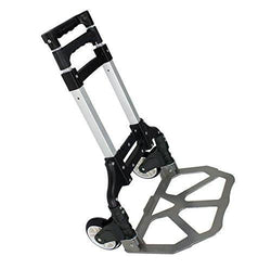 ZENY™ 170 lbs BLACK Folding Dolly Push Truck Hand Collapsible Trolley Luggage Cart