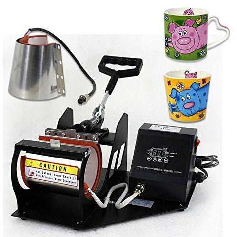 ZENY™ 2in1 Heat Press Transfer Sublimation Machine Auto Digital Display Coffee Cup Mug
