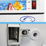 ZENY™  Ice Shaver Machine Ice Crusher Shaved Ice Maker 200 lbs 250W 1400 RMS Snow Cone Equipment Aluminum Alloy Construction