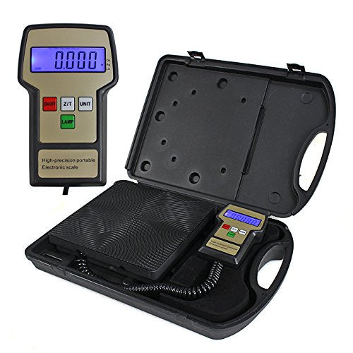 ZENY™ Portable 220 Lbs Digital AC Refrigerant Electronic Charging Weight Scale HVAC with Case