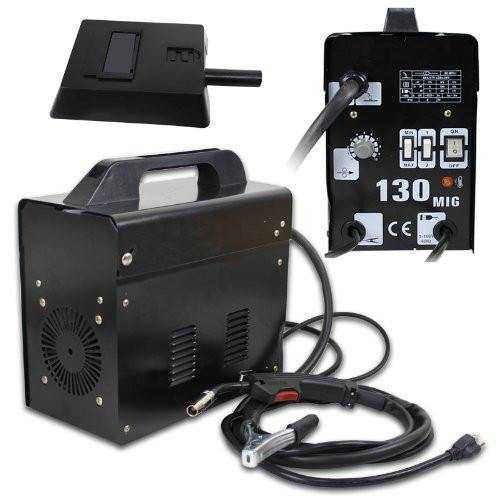 ZENY™ Black Commercial MIG 130 AC Flux Core Wire Automatic Feed Welder Welding Machine w/ Free Mask 110V (MIG 130 110v Black)