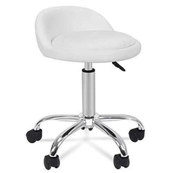 Zeny™ Adjustable Hydraulic Rolling Stool Chair,Salon Facial Medical Stool w/Backrest
