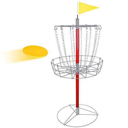 ZENY™ Disc Golf Basket Goal Practice 12-Chain Portable Disc Golf Basket Target Steel Frisbee Hole