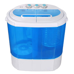 ZENY™ Portable Compact Washing Machine,Mini Twin Tub Washing Machine,Gravity Drain Pump,Drain Hose
