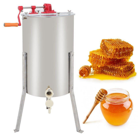 ZENY™ 2 Frame Stainless Steel Manual Crank Bee Honey Extractor Honeycomb Spinner