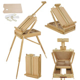 "ZENY™ Sketch Box 72"" High French Portable Folding Easel Wooden Artist Painters Canvers"