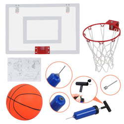 ZENY™ Mini Basketball Hoop Set w/ a 5.5'' Ball and Hand Pump Over the Door Basketball Backboard