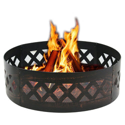 "ZENY™ Campfire Ring 37"" Fire Ring Heavy Duty Outdoor Garden Patio Fire Pit Ring DIY"