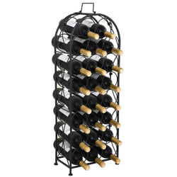 ZENY™ Metal 23 Bottle Arched Finish Freestanding Floor Wine Storage Rack Wine Holder Racks
