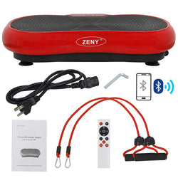 Zeny™ Vibration Plateform Machines Whole Body Vibrating Plate Machine Workout Fitness Shaking Machine w/Bluetooth