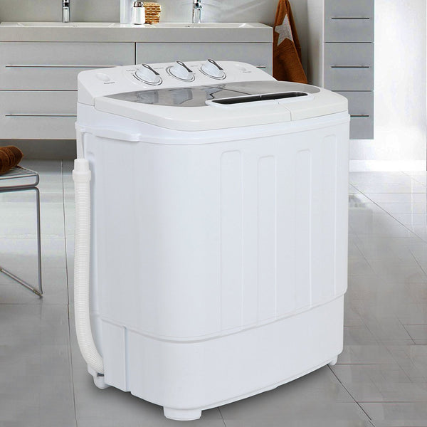 Zeny Compact Mini Twin Tub Washing Machine 13lbs Capacity