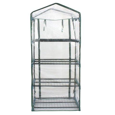 "ZENY™ 4 Tier Mini Green House Compact Greenhouse w/ PVC Cover Durable Steel Frame Green House-27.25""(L) X 19""(W) x 63""(H)"