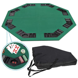 ZENY™ Foldable Poker Table Top Octagon 8 Players Poker Game Tabletop w/Carrying Bag