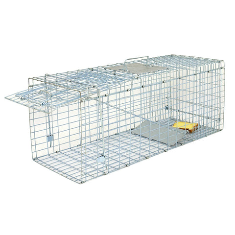 "ZENY™ 32"" Steel Cage Catch Release Humane Rodent Cage for Rabbits, Stray Cat, Squirrel, Raccoon, Mole, Gopher, Chicken, Opossum, Skunk & Chipmunks"