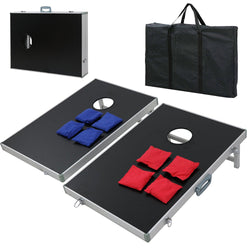 ZENY™ Portable Beanbag CornHole Game Set with 8 Bean Bags and Carrying Case for Tailgate Party Backyard BBQ
