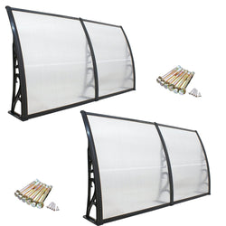 "ZENY™ Set of 2 40""x 80"" Window Awning DIY Overhead Door Canopy Decorator Patio Cover (#2)"