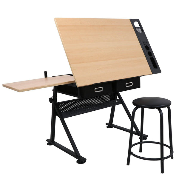 Astonishing Zeny Adjustable Drawing Desk Drafting Table Versatile For Painting Writing Studying And Reading Home Interior And Landscaping Analalmasignezvosmurscom