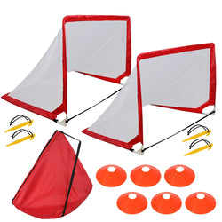 ZENY™ Pop-Up Soccer Goals,Portable Soccer Nets with Cones and Carry Bag,Set of 2