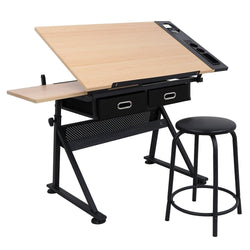 ZENY™ Adjustable Drawing Desk Drafting Table Versatile for Painting Writing Studying and Reading