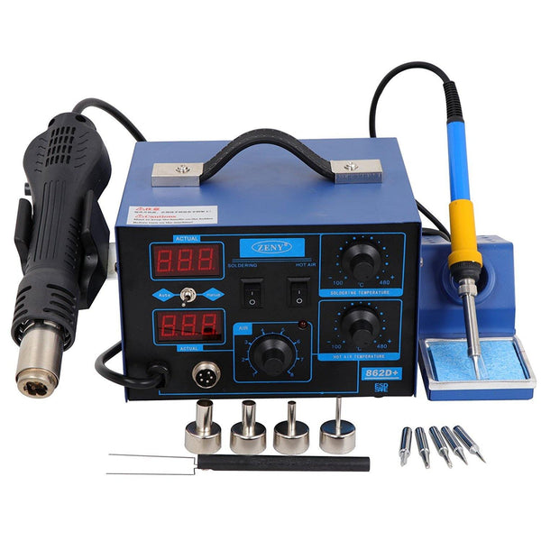 ZENY™ 2 in 1 SMD Hot Air Rework Soldering Iron Station 862D+ Repair Tools