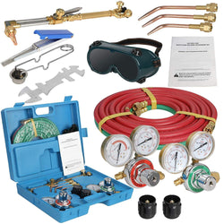 ZENY™ NEW Portable Gas Welding Cutting Torch Kit w/Hose, Oxy Acetylene Brazing Professional Set with Goggles & Case