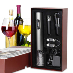 ZENY™ Electric Wine Opener with Chargeer - Cordless Bottle Opener Electric Corkscrew with Foil Cutter