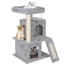 ZENY™ 34'' Cat Tree Tower with Scratching Posts - Kittens House Furniture Trees