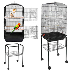 ZENY™ 59.3'' Bird Cage for Cockatiel Parakeet Medium Pet Bird Cage with Rolling Stand