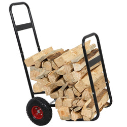 ZENY™ Portable Log Carrier for Firewood Mover Hauler Rack Caddy Rolling Dolly Cart