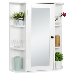ZENY™Bathroom Cabinet with Mirror Wall Mount Medicine Cabinet 2 Tier Inner Adjustable Shelves Wooden