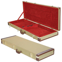 ZENY™ Hardshell Guitar Case for Strat/Tele-Gold Rectangle Shaped