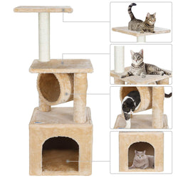 ZENY™ 36'' Cat Trees for Kittens Cat Furniture Towers with Scratching Posts, Double Perches