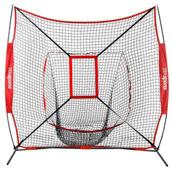 ZENY™ 7'×7' Baseball Softball Practice Net w/Strike Zone, Bow Frame & Carry Bag